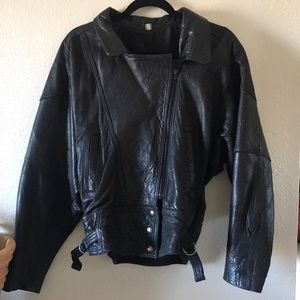 made in mexico Jackets & Coats - Vintage Supple black Leather Moto biker jacket